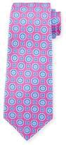 Kiton Medallion Silk Tie, Pink