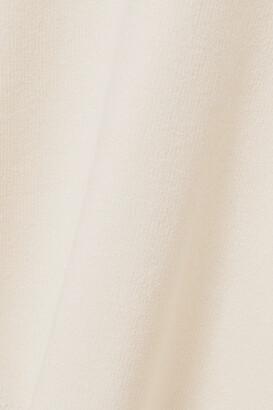 Isa Boulder Reality Cold-shoulder Ribbed-knit Midi Dress - Cream