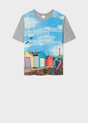 Paul Smith Women's 'Beach Huts' Print Modal-Blend T-Shirt