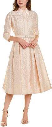 Teri Jon By Rickie Freeman Eyelet Midi Dress