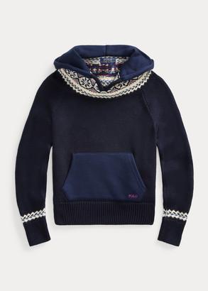 Ralph Lauren Fair Isle Hooded Sweater