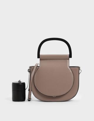 Charles & Keith Mini Top Handle Saddle Bag
