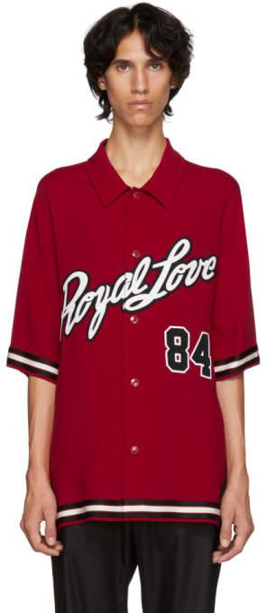 Dolce & Gabbana Red Royal Love Jersey Shirt