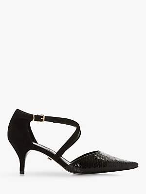Dune Courtnies Cross Strap Court Shoes
