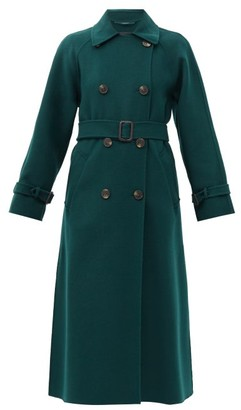 Max Mara Potente Trench Coat - Dark Green