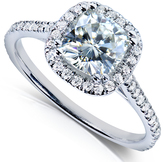 Kobelli Jewelry 1.35 CT TW Moissanite Diamond 14K White Gold Engagement Ring