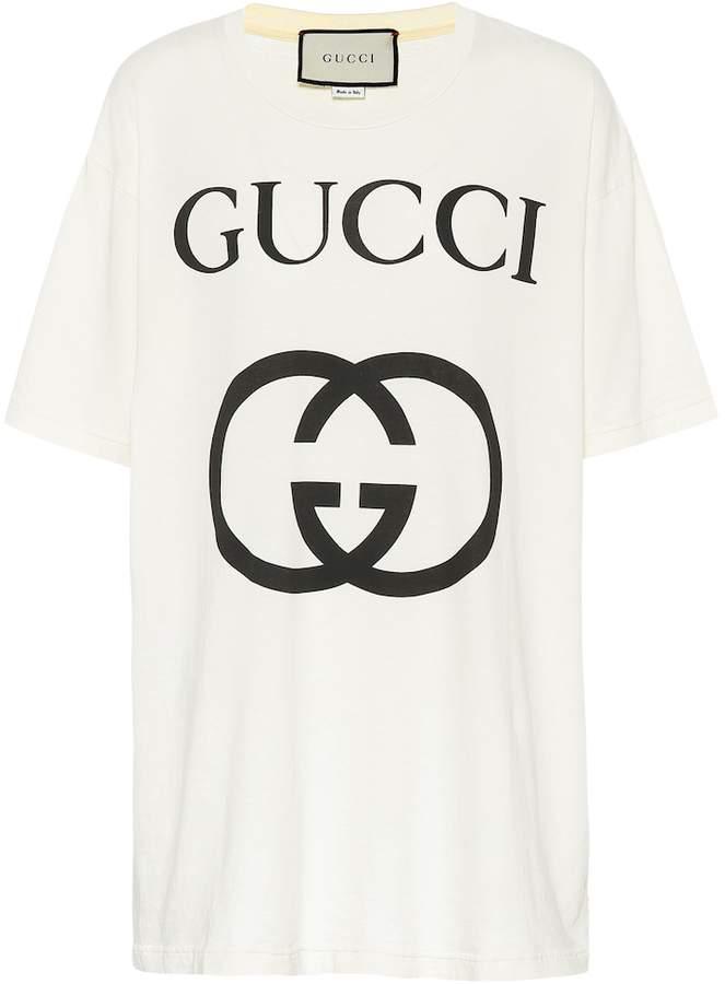 bf31cd8db Gucci Logo Print T-shirt - ShopStyle