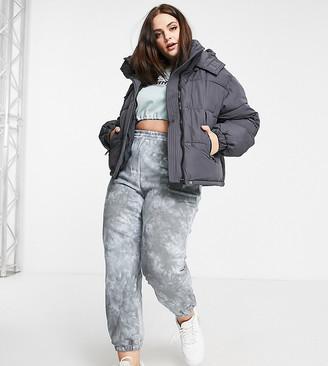 Sixth June Plus cropped oversized puffer jacket