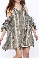 Judith March Python Print Dress