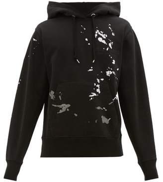 Helmut Lang Paint Print Logo Embroidered Cotton Sweatshirt - Mens - Black