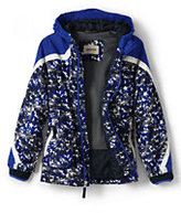 Classic Little Boys Printed Stormer Jacket-Cadet Gray Jigsaw Print