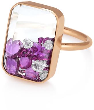 Moritz Glik Ruby Kaleidoscope Shaker Ring