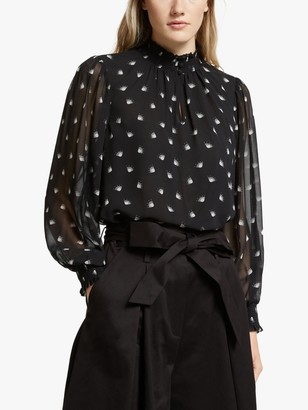 Somerset by Alice Temperley Fan Frill Blouse, Black