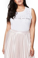 Rachel Roy Plus Size Women's Love Is All We Need Graphic Tank