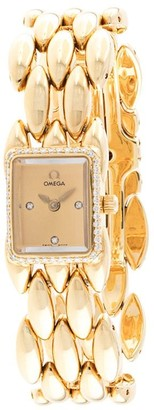 Omega Pre-owned Sapphette diamond watch