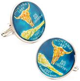 Penny Black 40 Hand Painted Montana State Quarter Cufflinks