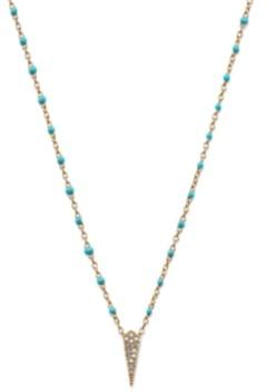 "AVA NADRI Silver-Tone Crystal & Stone Arrow Pendant Necklace, 16"" + 1"" extender"