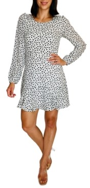 Trixxi Juniors' Long-Sleeve Fit & Flare Dress