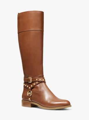 MICHAEL Michael Kors Preston Studded Leather Boot