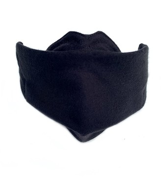 Malaika New York Face Mask Black Organic Cotton With Dwr