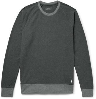 Polo Ralph Lauren Logo-Embroidered Melange Stretch-Cotton Jersey Sweatshirt