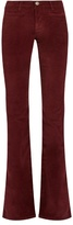 MiH Jeans Marrakesh high-rise kick-flare velvet trousers