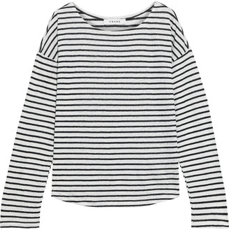 Frame Striped Slub Linen-jersey Top