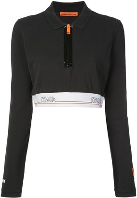 Heron Preston Tape Cropped Polo Shirt