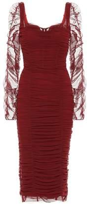Dolce & Gabbana Ruched mesh dress
