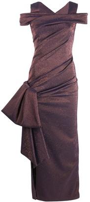 Talbot Runhof Iridescent Evening Dress