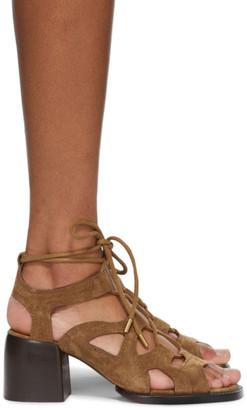 Chloé Tan Suede Gaile Heeled Sandals