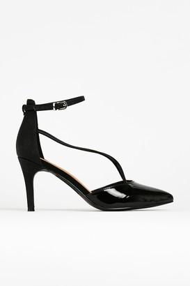 Wallis Black Ankle Strap Pointed Shoe
