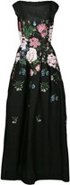 Oscar de la Renta Botanical Jacquard Gown