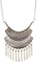 Stephan & Co Large Fringed Pendant Necklace