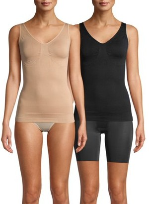 Real Comfort Alyssa 2-Pack Molded Cup Shaping Camisole