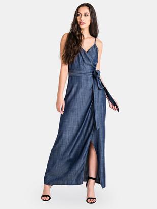 Standards & Practices Jodi Tencel Denim Spaghetti Strap Maxi Dress