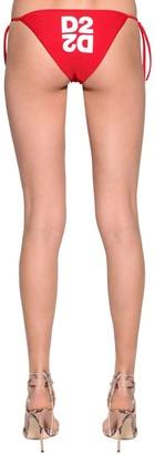 DSQUARED2 Printed Lycra Triangle Bikini Bottoms