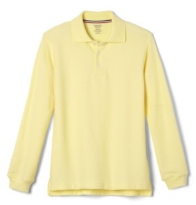 French Toast Big Boys Long Sleeve Pique Polo Shirt