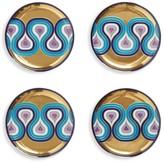Jonathan Adler Milano 4-Piece Porcelain Coaster Set
