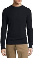 Theory Hilber Cotton Rib Crewneck Sweater, Navy