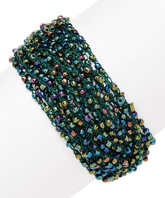 Pavcus Designs Women's Bracelets - Green Seed Bead Bracelet
