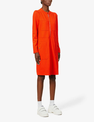 Me And Em Zipped-front stretch-jersey midi dress