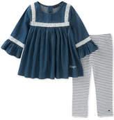 Tommy Hilfiger 2-Pc. Denim Tunic & Leggings Set, Toddler Girls