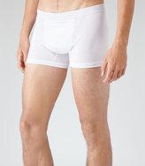Reiss Reiss Ace - Cotton Trunks In White, Mens