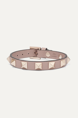 Valentino Garavani Rockstud Leather Bracelet - Neutral