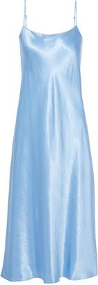 Vince Crinkled-satin Midi Slip Dress