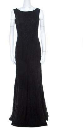 Diane von Furstenberg Black Lace Open Back Evangelina Gown M