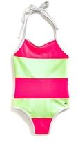 Tommy Hilfiger Final Sale-Striped Swim Suit
