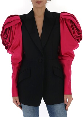 Alexander McQueen Rose Shaped Shoulder Jacket