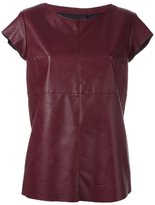 MM6 MAISON MARGIELA leather effect T-shirt